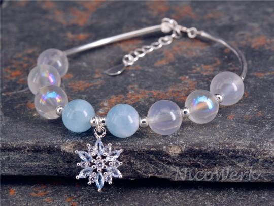 Silberarmband Schneeflocke