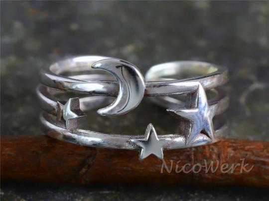 Silberring Stern