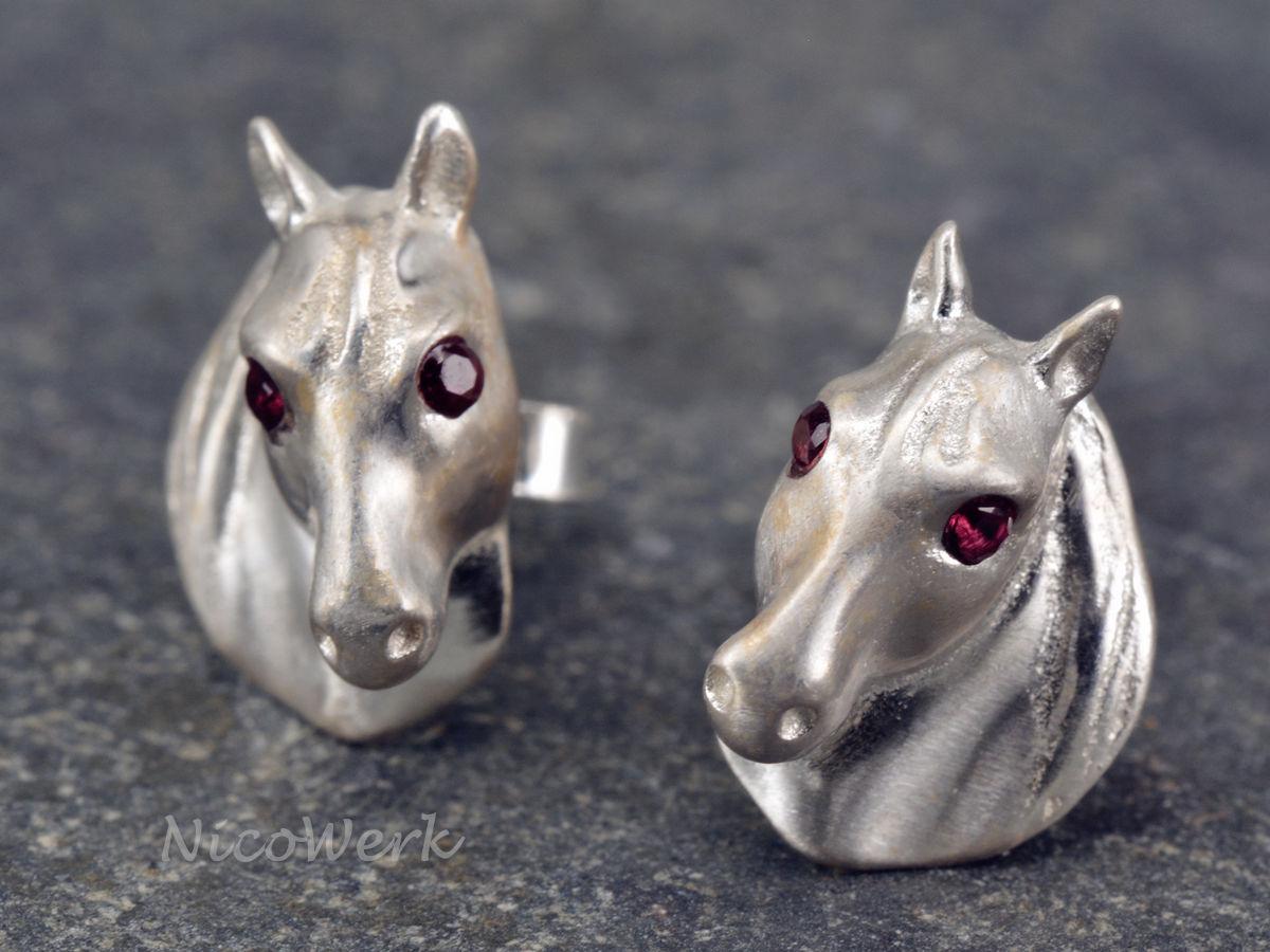 Silberschmuck ohrstecker  NicoWerk Silberschmuck | Silber Ohrstecker Pferd | online kaufen