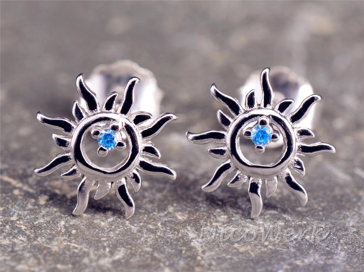 Angebot Qualitätsprodukte weltweite Auswahl an NicoWerk Silberschmuck   Silber Ohrstecker Sonne   online kaufen