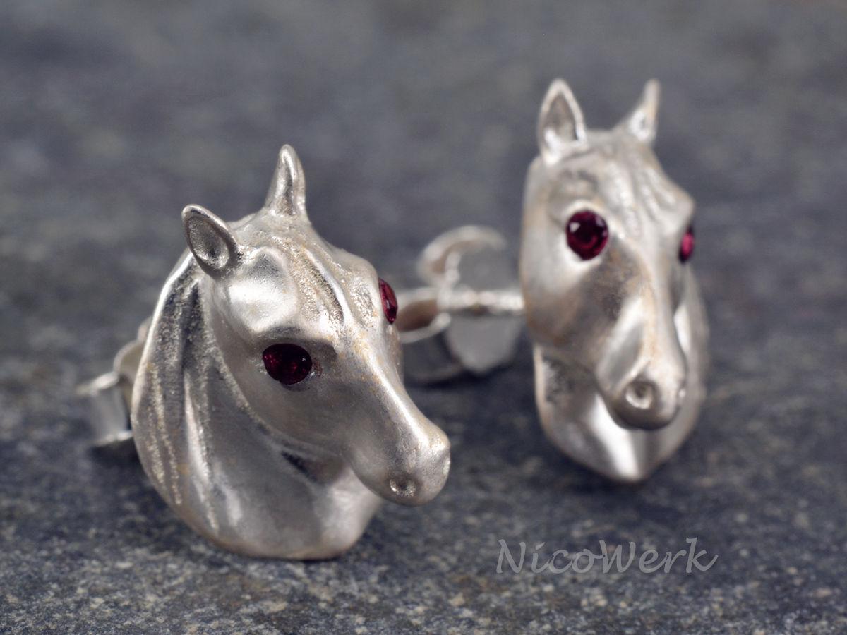 Silberschmuck kaufen  NicoWerk Silberschmuck | Silber Ohrstecker Pferd | online kaufen