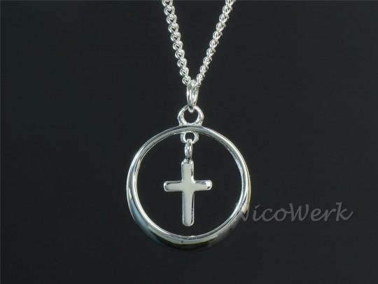 Silberkette Kreuz