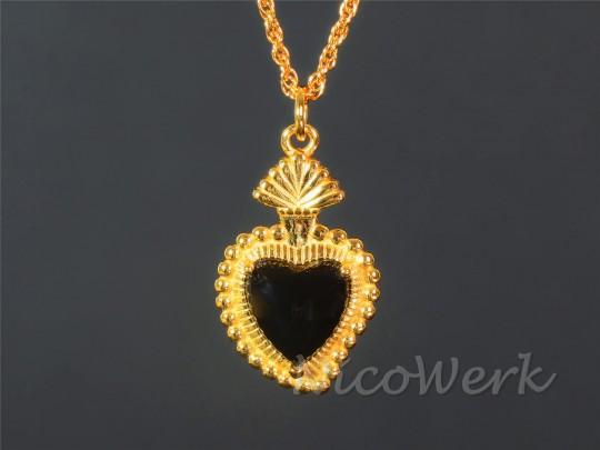 Silberkette Herz