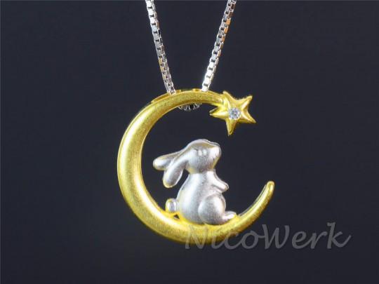 Silberkette Hase