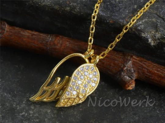 Silberkette Engelflügel