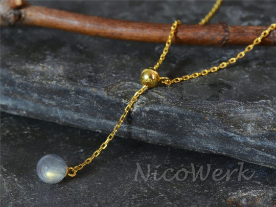 Silberkette Mondstein