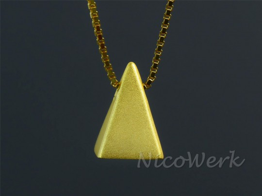 Silberkette Pyramide
