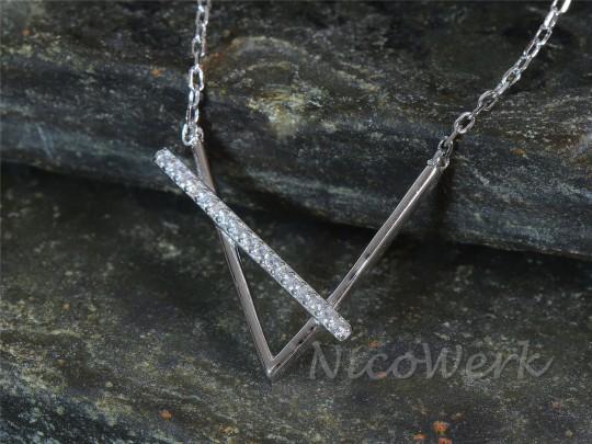 Silberkette Winkel