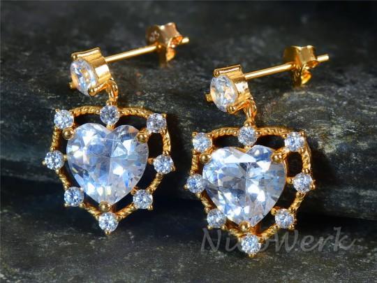 Silber Ohrringe Herz