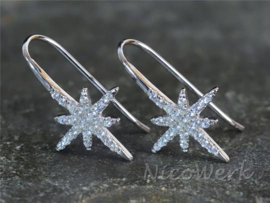 Silber Ohrringe Polarstern